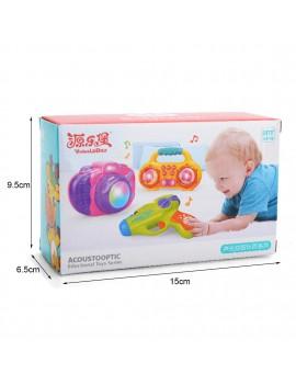 YLB Lighting Music Radio Toy for Kids Green