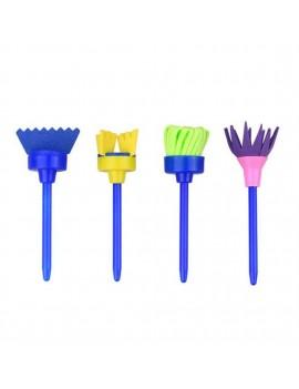4pcs/set DIY Painting Sponge Brushes Plastic Sponge Children's Painting Tool