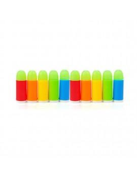 10pcs/lot Colorful Luminous Bullets Mini Soft Bullet Toy Gun For Pistol Gun