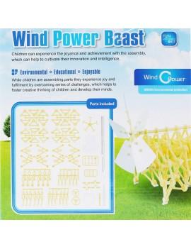 Wind Powered DIY Walking Walker Strandbeest Model Kits Novelty Toy for Kids