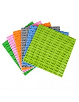 25.5* 25.5cm large particle blocks floor blocks wall 16*16 point kindergarten toy blocks light gray